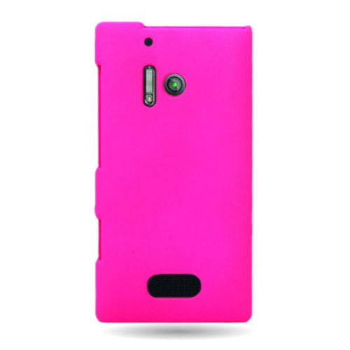 - Nokia Lumia 928 Case, CoverON [Snap Fit Series] Hard Rubberized Slim Protective Phone Cover Case for Nokia Lumia 928 - Hot Pink