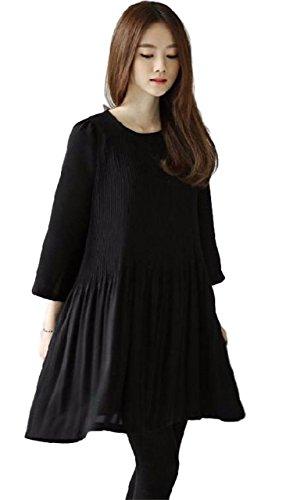 遅らせる掃除完璧なゆったり ふんわり マタニティー フォーマル ワンピース ひざ丈 かわいらしい ドレス