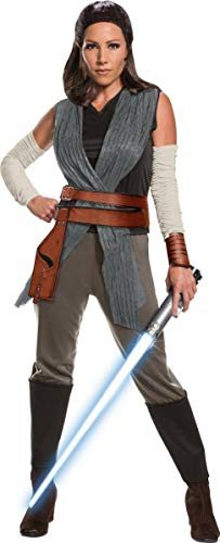 Rubie's Star Wars Episode VIII: The Last Jedi Women's Deluxe Rey Costume  As Shown  Medium -