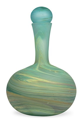 Recycled Glass Decanter 'Hebron Swirl Decanter' (Recycled Glass Carafe)