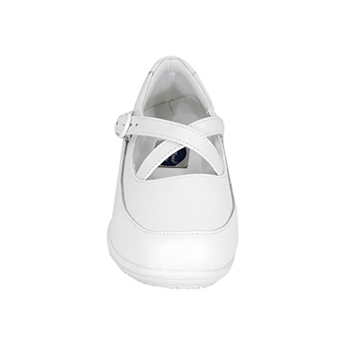 24 Hour Comfort  Susan Women Wide Width Criss-Cross Straps Casual Step-in Shoes White 10.5 by 24 Hour Comfort (Image #2)