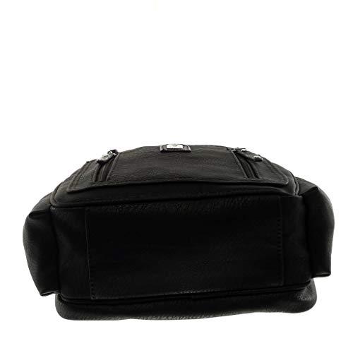 classiques sacs à mono Noir Multi Bretelles Tendance à et Angkorly femme Sacs main portés dos épaule Sac poche ROSwHY
