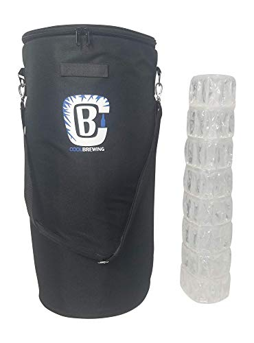 - Keg Cooler Bundle for Home Brew - Beer Cooler for 5G Keg & Corny Keg With Ice Sheet/Wrap by Cool Brewing