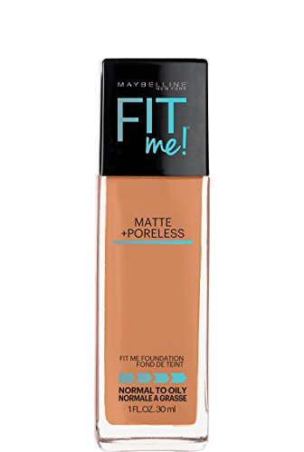 31oVEf%2BJcKL Maybelline Fit Me Matte + Poreless Liquid Foundation Makeup, Spicy Brown, 1 fl. oz.