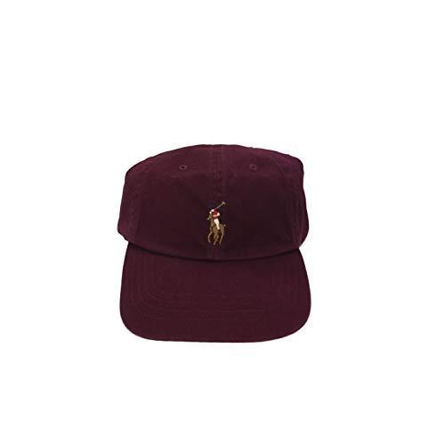 Polo Ralph Lauren Chino - Polo Ralph Lauren Chino Baseball Cap Wine Burgundy Colored Pony One Size