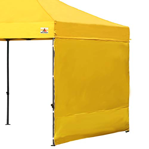 ABCCANOPY Instant Canopy SunWall (15+Colors) for 10x10 Feet, 10x20 Feet Straight Leg pop up Canopy, 1 Pack Sidewall Only, Yellow