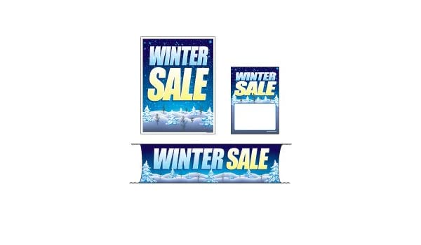 Mini - 4 Piece Sign Kit Retail Business Store Signs 3 Sizes to Choose from MKTWIT 4 Piece KitWinter Sale Holiday Design Christmas /& Seasonal