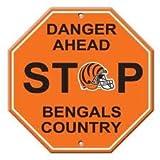 Cincinnati Bengals Plastic 12 inch Stop Sign New