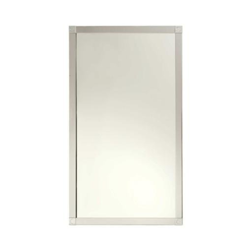 Ginger 3041 18'' x 32'' Framed Mirror from the Frame Collection, Polished Chrome by Ginger