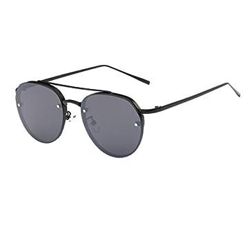 AAMOUSE Gafas de Sol Gafas de Sol Redondas para Hombre Moda ...