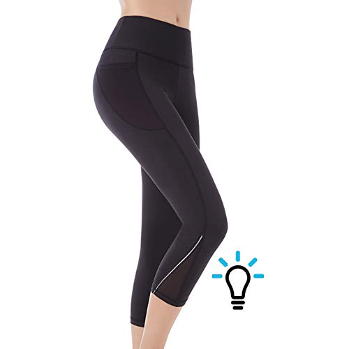 618d4085e573f Artist Seyo Gym Leggings Womens 3/4 Yoga Pants Running Leggings Pockets  Capri Pants High