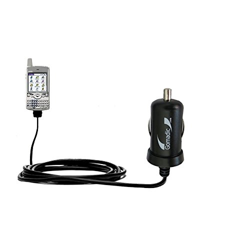 Mini 10W Car / Auto DC Charger designed for the Handspring Treo 90 with Gomadic Brand Power Sleep technology - Designed to last with TipExchange Technology