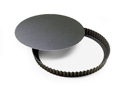 Fluted Non-Stick Tart Pan with Removable Bottom - 10-1/4''