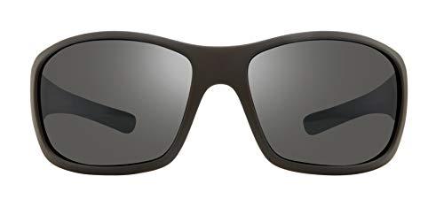 Revo Men's Polarized Sunglasses Maverick x Bear Grylls Wraparound Frame 63 mm Wrap, Matte Black, Graphite