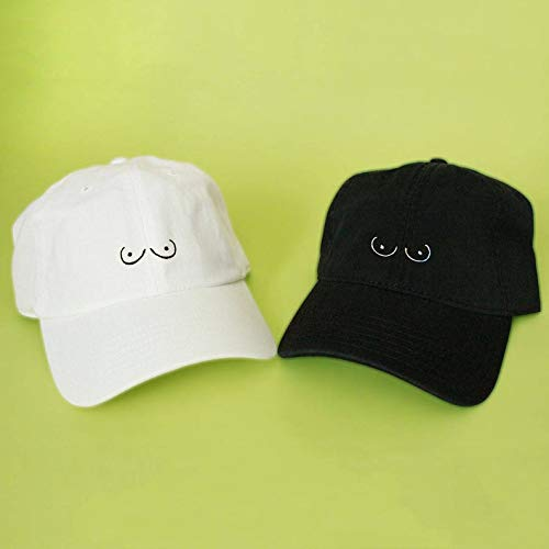 New Boobs Baseball Hat Dad Hat Low Profile White Pink Black Casquette Embroidered Unisex Adjustable Strap Back Baseball Cap No Bra Feminist