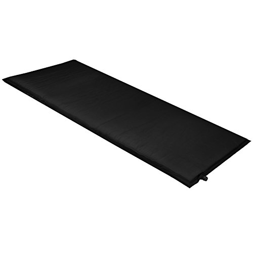 Isomatte Selbstaufblasende Thermomatte Selfinflating Matte Blue-Night 200 x 66 x 6,0 cm, Farbe:black