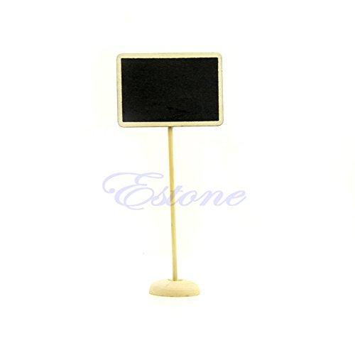 yaonow 1 PC Mini Wooden Blackboard Chalkboard Message Note Holder Wedding Party Decor from yaonow