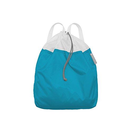 Flip & Tumble Drawstring Bag – Foldable Travel Backpack, Marine Blue, One Size