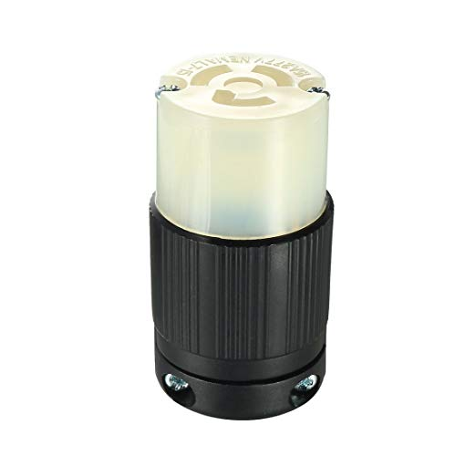 - uxcell Locking Receptacle Socket Female NEMA L7-15R, 15A 277VAC, 2 Pole 3 Wire Grounding Industrial Grade