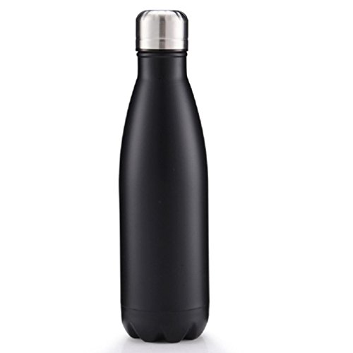 Boddenly Simple Modern Vacuum Insulated Bottle,Double Stainless Steel Thermos,Cola Style Portable Sports Bottle (black) (Mini Vacuum Coffee compare prices)