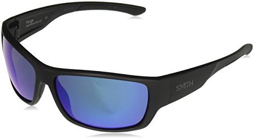 Smith Forge Carbonic Polarized Sunglasses, Matte Black, Blue Mirror Lens