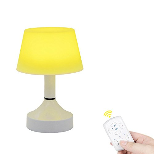 Portable LED Lamp Cute Space Energy Saving  Desk Lamp Table USB Rechargeable Baby Nursery Night Light for Kids Bedside Home Rooms with Remote Timer Dimmable Warm White Light (Lamp Baby Bedside)
