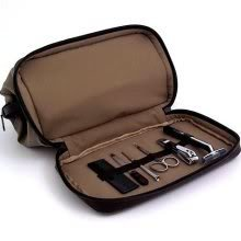 Executive Manicure Set - Men's Grooming Travel Toiletry Dopp Bag with Manicure Set
