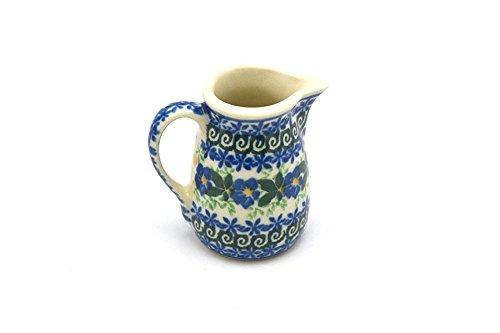 Polish Pottery Miniature Pitcher - Blue (Miniature Pottery Pitcher)