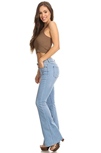 Classic Premium Denim, Flare Bootleg Bootcut Jeans in Light Blue Size 5]()