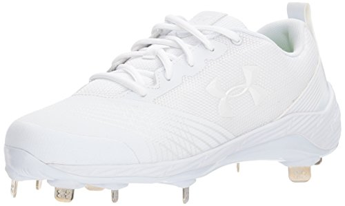 Under Armour Women's Glyde ST Softball Shoe, White (100)/White, 8.5