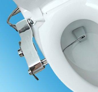 UPC 783942965001, Bidet Full Stainless Steel Fresh Water Spray Non-Electric Mechanical Bidet Toilet Seat Attachment Rim Bidet