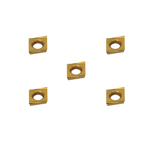 Grooving Insert for Aluminum Full Radius Bronze THINBIT 3 Pack LGT040D2RFRD 0.040 Width 0.100 Depth Copper and Cast Iron with Interrupted Cuts TiCN Coated Carbide Brass