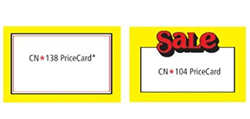 "NAHANCO CND Econo cards - 5 1/2"" x 7"" (Pack of 100)"