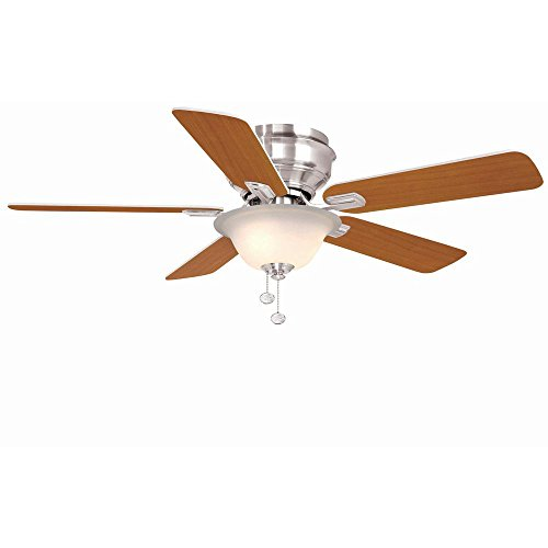 Hampton Bay Brushed Ceiling Fan (Hampton Bay YG204-BN-D Hawkins 44 in Brushed Nickel Ceiling Fan)