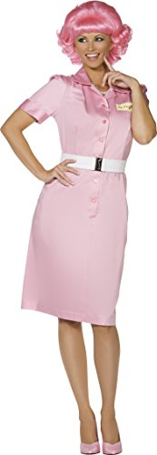 [Smiffy'S Frenchy Beauty School Drop Out Costume (Medium)] (Frenchy Pink Ladies Costume)