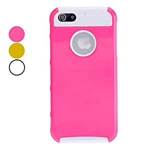 DD Double Shells Design White TPU Inner Shell Hard Case for iPhone 5/5S (Assorted Colors) , Yellow