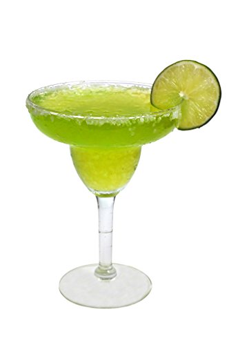 Margarita Gel Candle - Life Sized, Realistic; Classic Lime or Strawberry Margarita Glass Candle