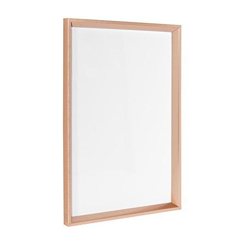 Kate and Laurel Calter Framed Magnetic Dry Erase Board, 16.5x25.5, Rose ()
