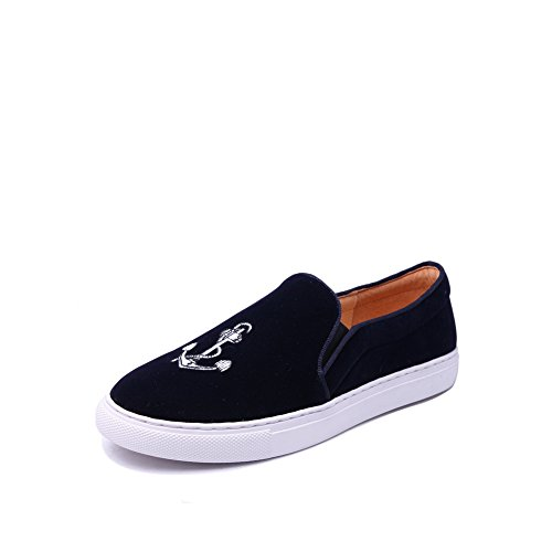 Shoes Loafers Solid Flatform Round 1TO9 Toe No Suede Blue MMS05474 Womens Closure fxzSq