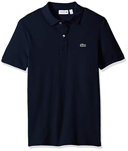 - Lacoste Men's Petit Piqué Slim Fit Polo Shirt, Eclipse Blue Chine, Medium