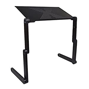 Portable Adjustable Laptop Computer Notebook Desk Stand Folding Laptop Table Book Reading Holder Lightweight Ergonomic Sofa Couch Bed Lap Tray Desk Cooling Pad Foldable Breakfast Table Home Dormitory