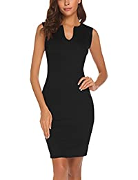 Women's Business Wear to Work Sleeveless V Neck Bodycon...