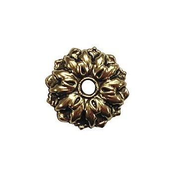 Crl 1 Quot Antique Gold Floral Metal Mirror Rosettes Package