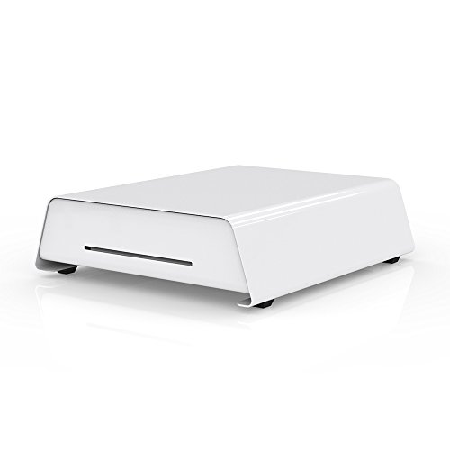 13'' White POS Cash Drawer with Money Tray,RJ11 Interface Cable Connects to DC24V Receipt Printer for Automatic Opening,BX1315W by Beelta