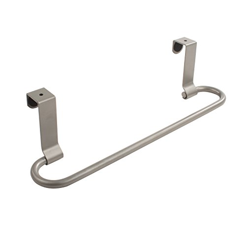 Spectrum Diversified Euro Towel Bar, Over the Cabinet Door, Satin Nickel by Spectrum Diversified
