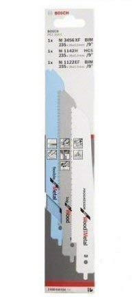 Bosch 2608656934 3-Piece Jigsaw Blade Set Multisaw PFZ 500 E M 1142 H M 3456 XF M 1122 EF Silver