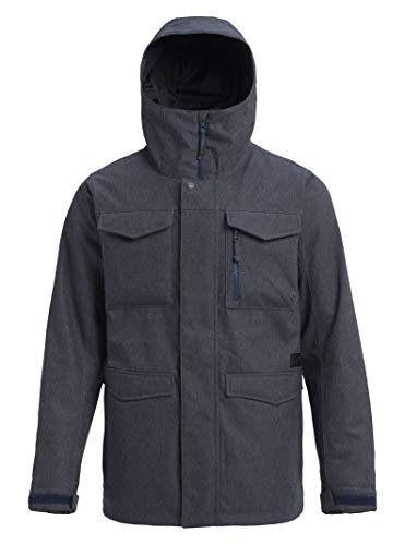 Burton Men's Covert Jacket, Denim, - Winter Coat Mens Ski