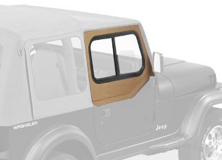 Bestop 51785-37 Spice Upper Door Slider Set (Squared Door) for 1988-1995 Wrangler YJ - -