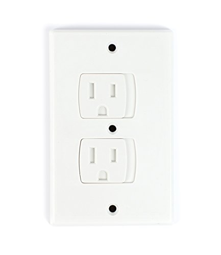 Self-Closing Electrical Outlet Covers for Baby Proofing | Automatic Sliding Electrical Safety Covers | Socket Plugs Alternate (4 Pack, White) by Secure Home by Jessa Leona (Image #5)