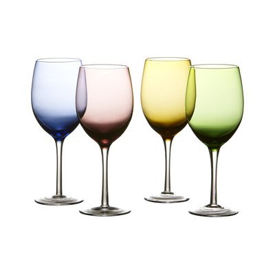 Fifth Avenue Napa Colors Goblets (Set of 4), Multicolor (Tabletops Avenue compare prices)